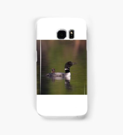 Wake-up call - Common loons Samsung Galaxy Case/Skin