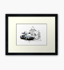 DeLorean DMC-12 (silver) Framed Print