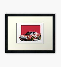 Lancia Stratos HF (red) Framed Print