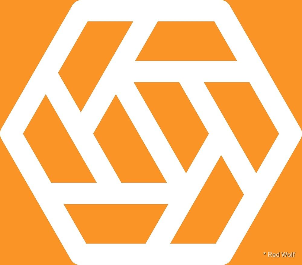 Geometric Pattern: Aperture: Orange/White by * Red Wolf