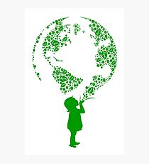 Earth Child (green) Photographic Print