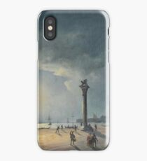 Carlo Grubacs () , attributed to, Night Club with views of Piazza San Marco iPhone Case/Skin