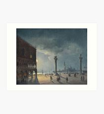 Carlo Grubacs () , attributed to, Night Club with views of Piazza San Marco Art Print