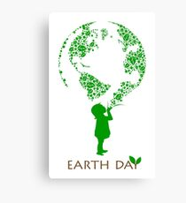 Earth Day Child Canvas Print