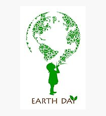 Earth Day Child Photographic Print