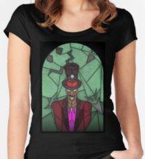 Voodoo Doctor - stained glass villains Women's Fitted Scoop T-Shirt