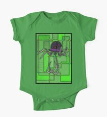 Robotic Bowler Hat - stained glass villains One Piece - Short Sleeve