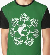 Earth Tree People (white) Graphic T-Shirt