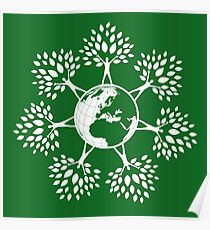 Earth Tree People (white) Poster