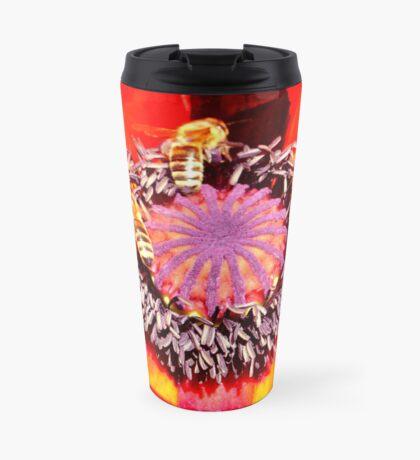 Poppy and Bees Travel Mug