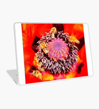 Poppy and Bees Laptop Skin