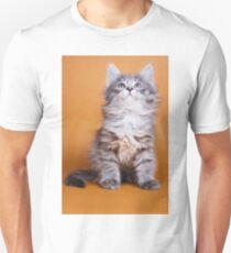 Lovely fluffy kitten charming Siberian cat T-Shirt
