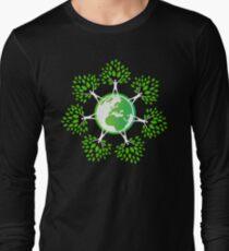 Earth Day Tree People (2c) Long Sleeve T-Shirt