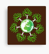Earth Day Tree People (2c) Canvas Print