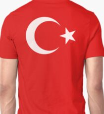 TURKEY, FLAG, TURKISH, Flag of Turkey, Turkish Flag, Crescent Moon, Star, Pure & Simple Unisex T-Shirt