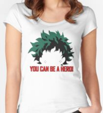 You can be a hero! Women's Fitted Scoop T-Shirt