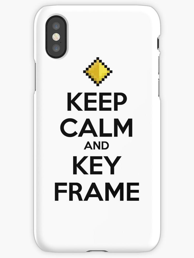 Vinilos y fundas para iPhone «Mantenga la calma y el fotograma clave ...