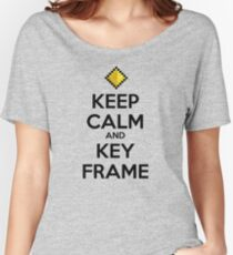 Keep Calm and Keyframe (Black Type) Women's Relaxed Fit T-Shirt