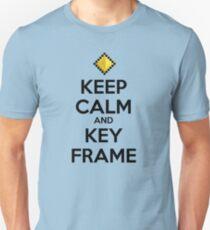 Keep Calm and Keyframe (Black Type) Unisex T-Shirt