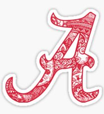 University of Alabama Doodle Sticker