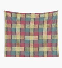 Faux Knit Plaid Wall Tapestry