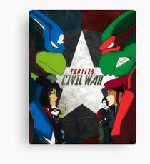 Turtles Civil War Canvas Print