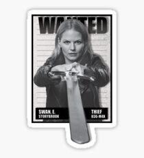 Wanted Emma Swan Sticker