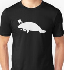 Formal Top Hat & Bow Tie Manatee T-Shirt