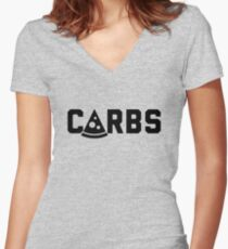 Carbs Women's Fitted V-Neck T-Shirt