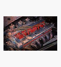 Retro urban auto engine. Photographic Print