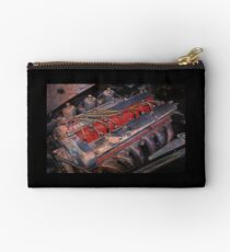 Retro urban auto engine. Studio Pouch