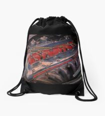 Retro urban auto engine. Drawstring Bag