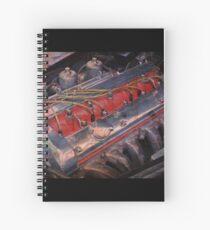 Retro urban auto engine. Spiral Notebook