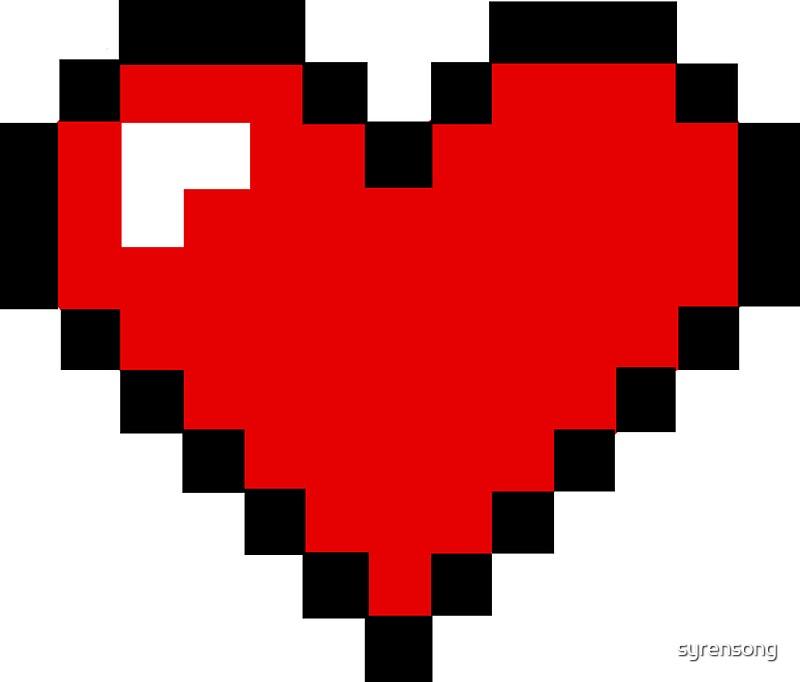8 Bit Heart: Stickers | Redbubble