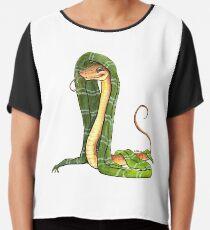 Schlangen-Haus-Maskottchen Chiffontop