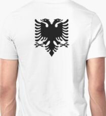 Albania, Albanian Black Eagle, Albanian Flag, Flag of Albania, Tale of the Eagle, Black on White T-Shirt