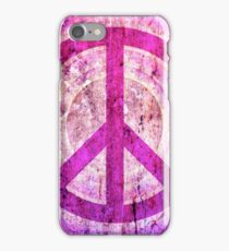 Peace Sign - Grunge Texture with Scratches iPhone Case/Skin