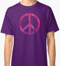Peace Sign - Grunge Texture with Scratches Classic T-Shirt