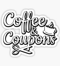 Coffee & Coupons Sticker