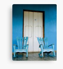 A pair of Rocking chairs, Vinales, Cuba Canvas Print