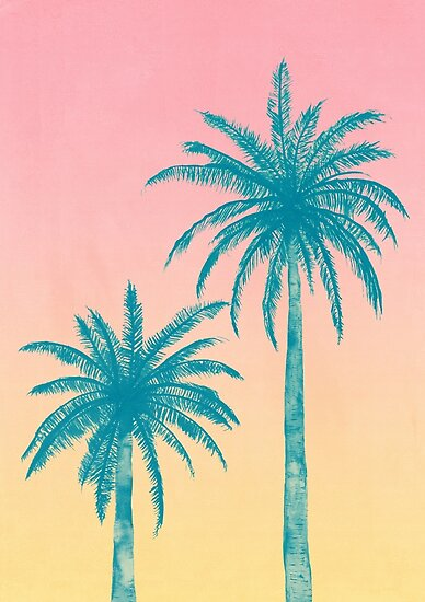 palm trees posters by tracie andrews redbubble