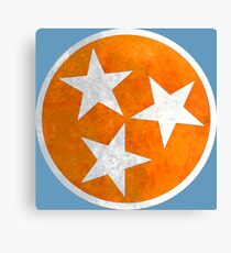 Tennessee Flag in Orange Canvas Print