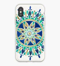 Mandala – Gold & Turquoise iPhone Case