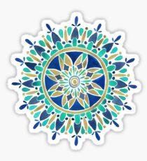 Mandala – Gold & Turquoise Sticker