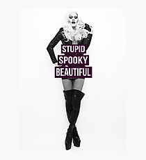 Supid, Spooky and Beautiful Purple Photographic Print