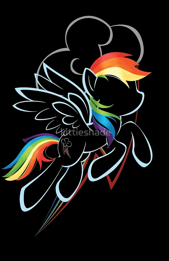 Rainbow Dash Contour by kittieshade