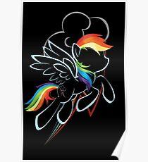 Rainbow Dash Contour Poster