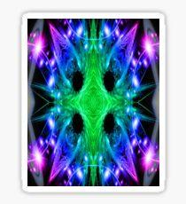 Alien Snowflake Sticker