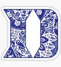 Duke University Doodle Sticker
