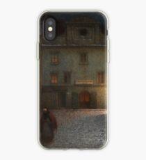 Evening Street by Jakub Schikaneder iPhone Case
